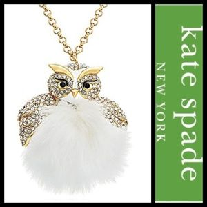Kate Spade NY Star Bright Owl Necklace NWT